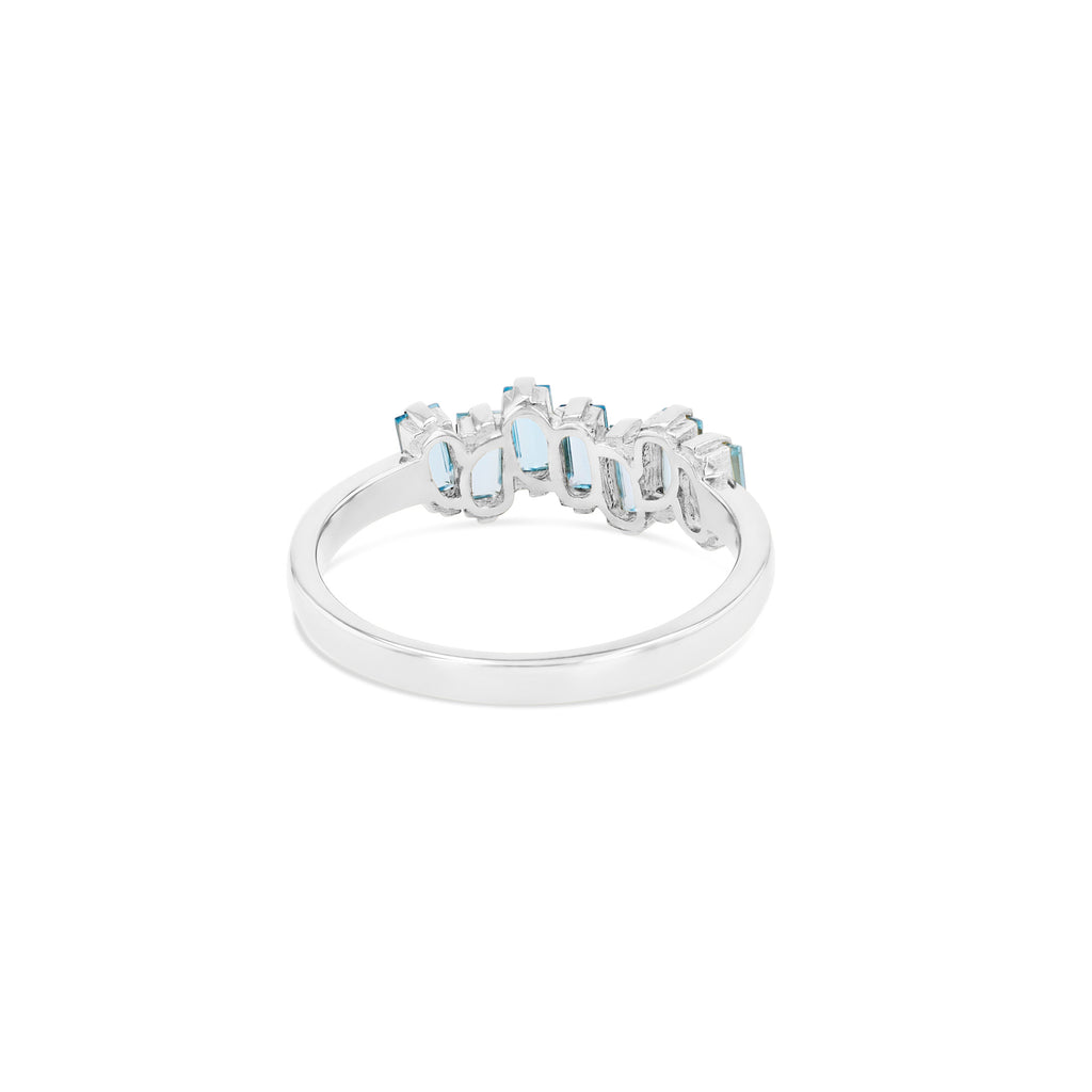 BLUE TOPAZ AMALFI WAVE BAND