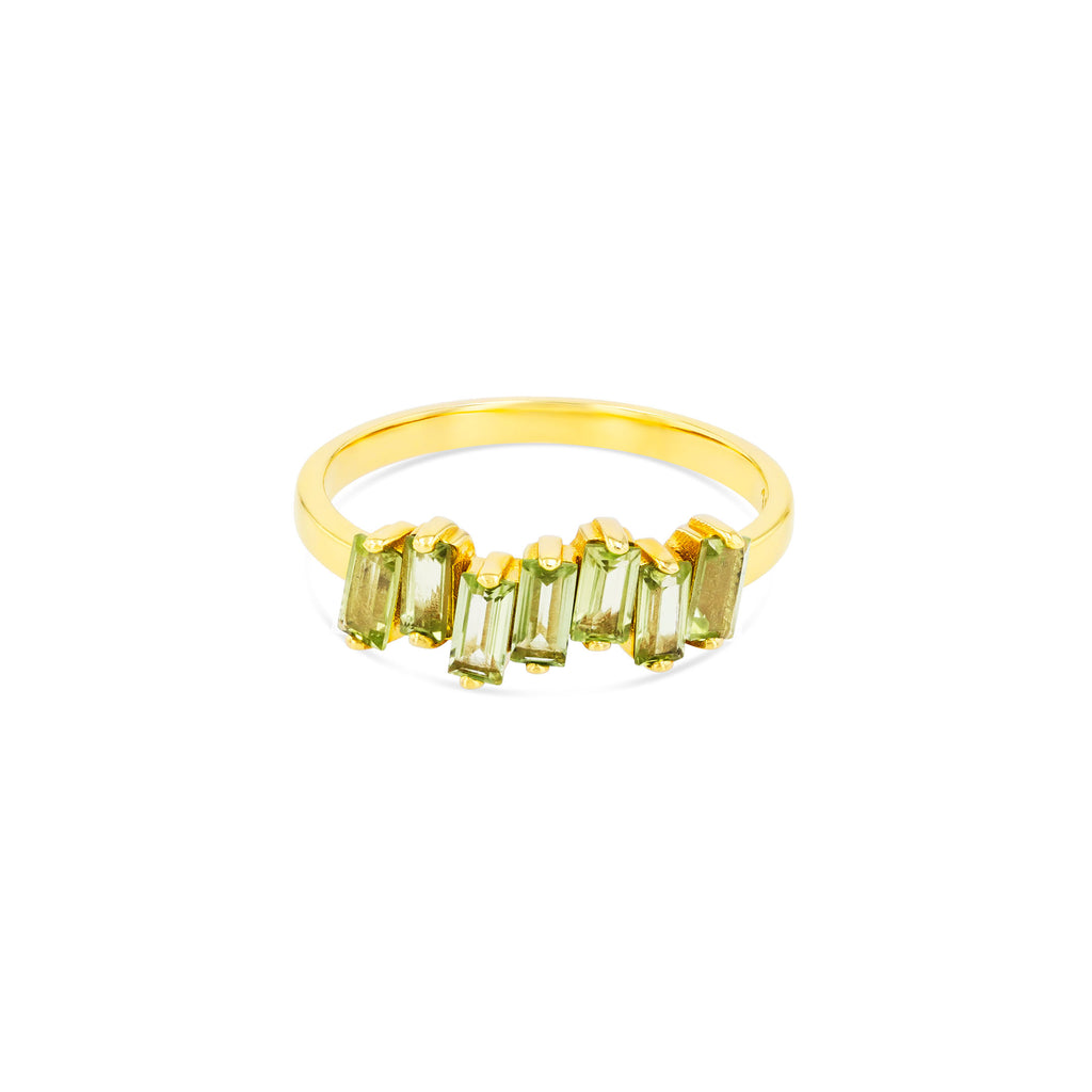 PERIDOT AMALFI WAVE BAND