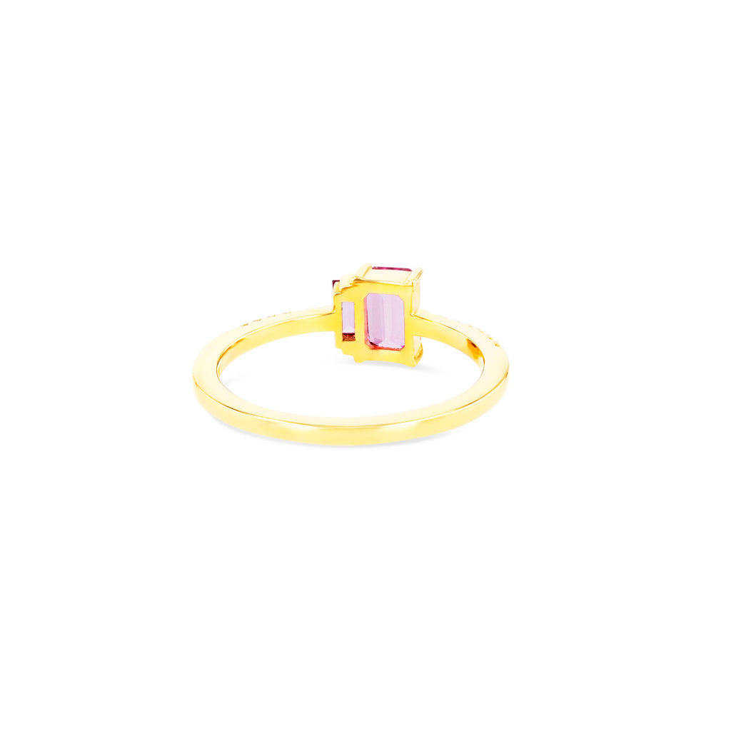 LEA PINK TOPAZ RING