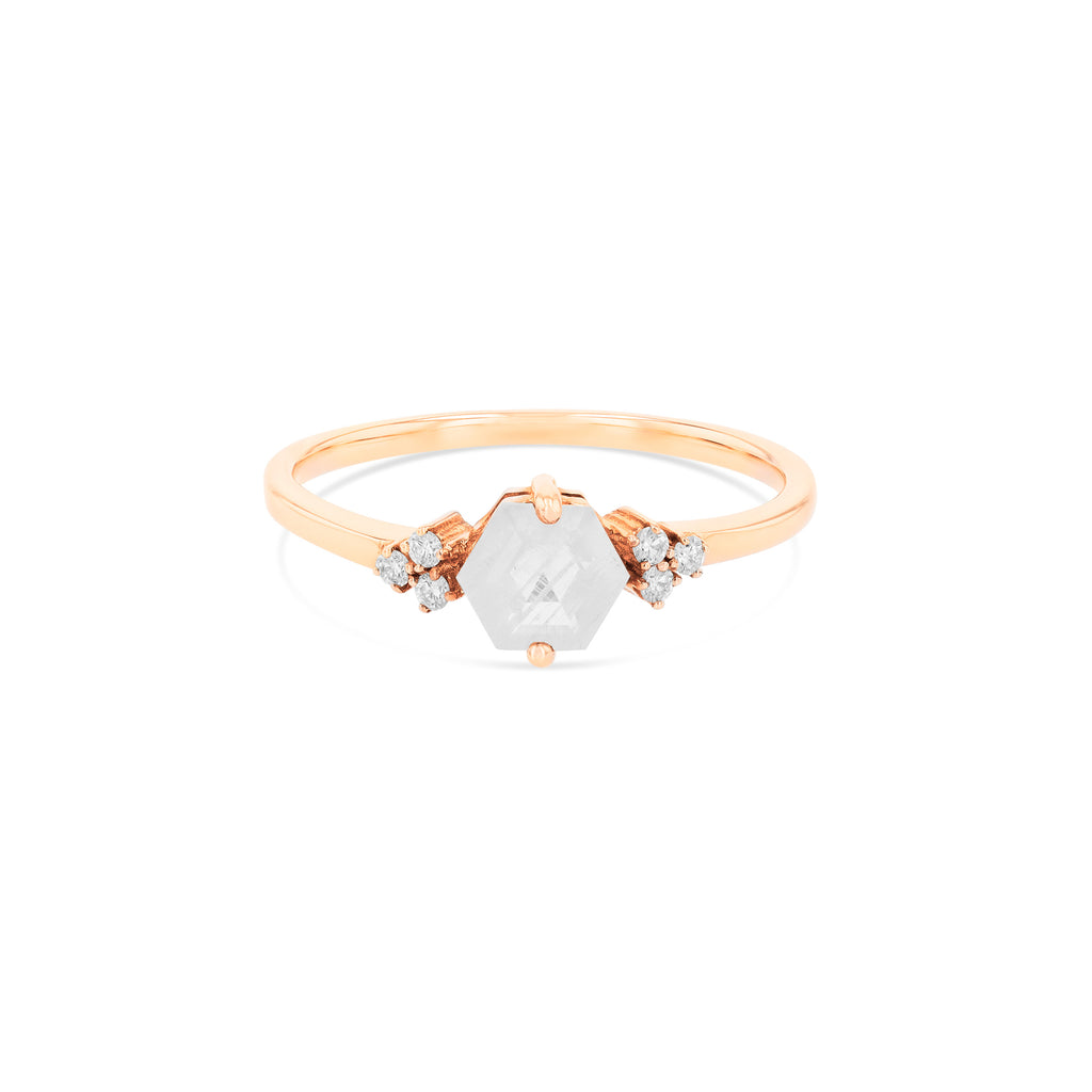 RAINBOW MOONSTONE AZALEA RING