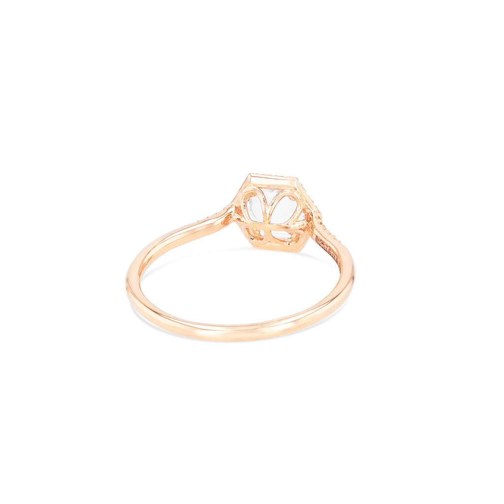 WHITE TOPAZ POPPY RING