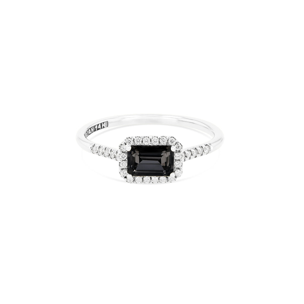 POSITANO BLACK NIGHT QUARTZ RING