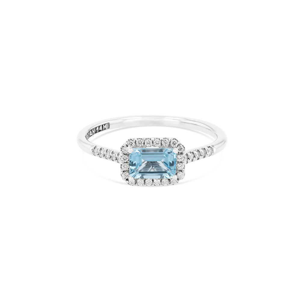 POSITANO BLUE TOPAZ RING