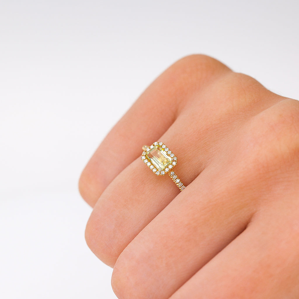 POSITANO LEMON QUARTZ RING