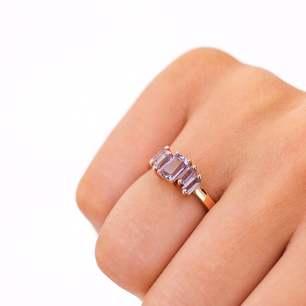 AMALFI ROSE DE FRANCE CLUSTER RING