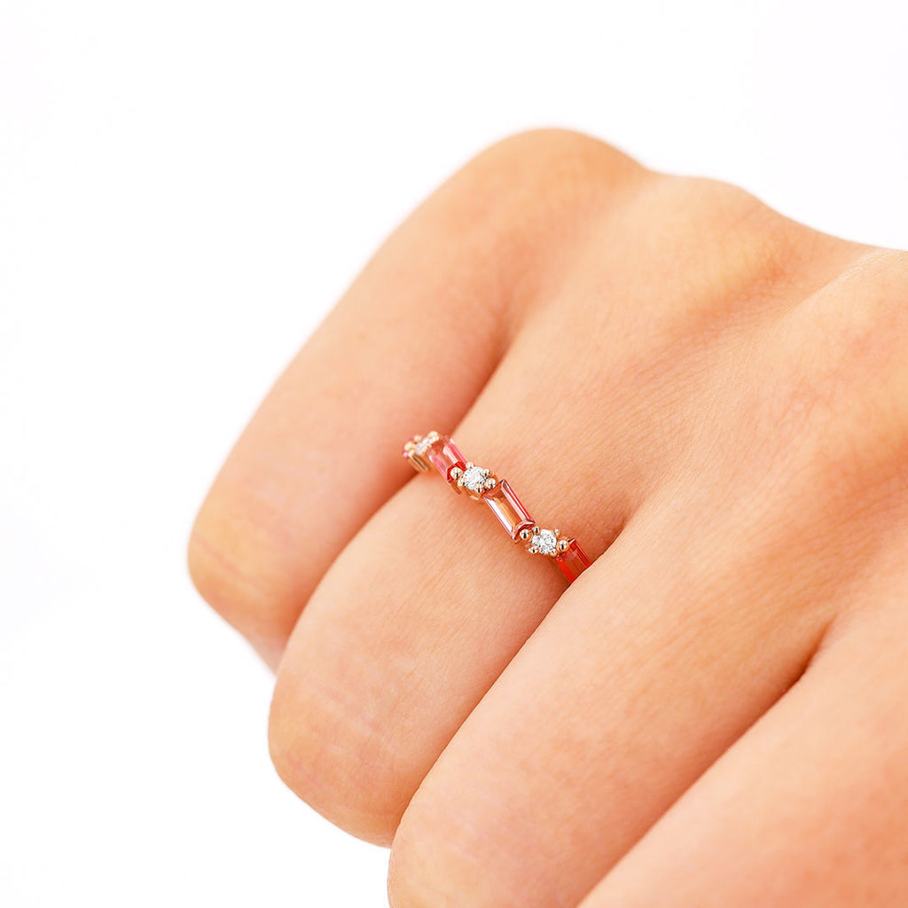 RAVELLO PINK TOPAZ RING