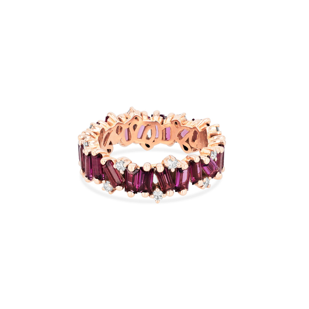 RHODOLITE AMALFI WAVE ETERNITY BAND