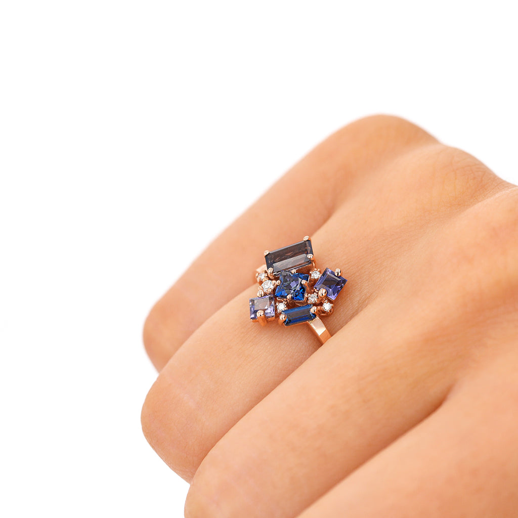 BLUE MIX LOVE RING