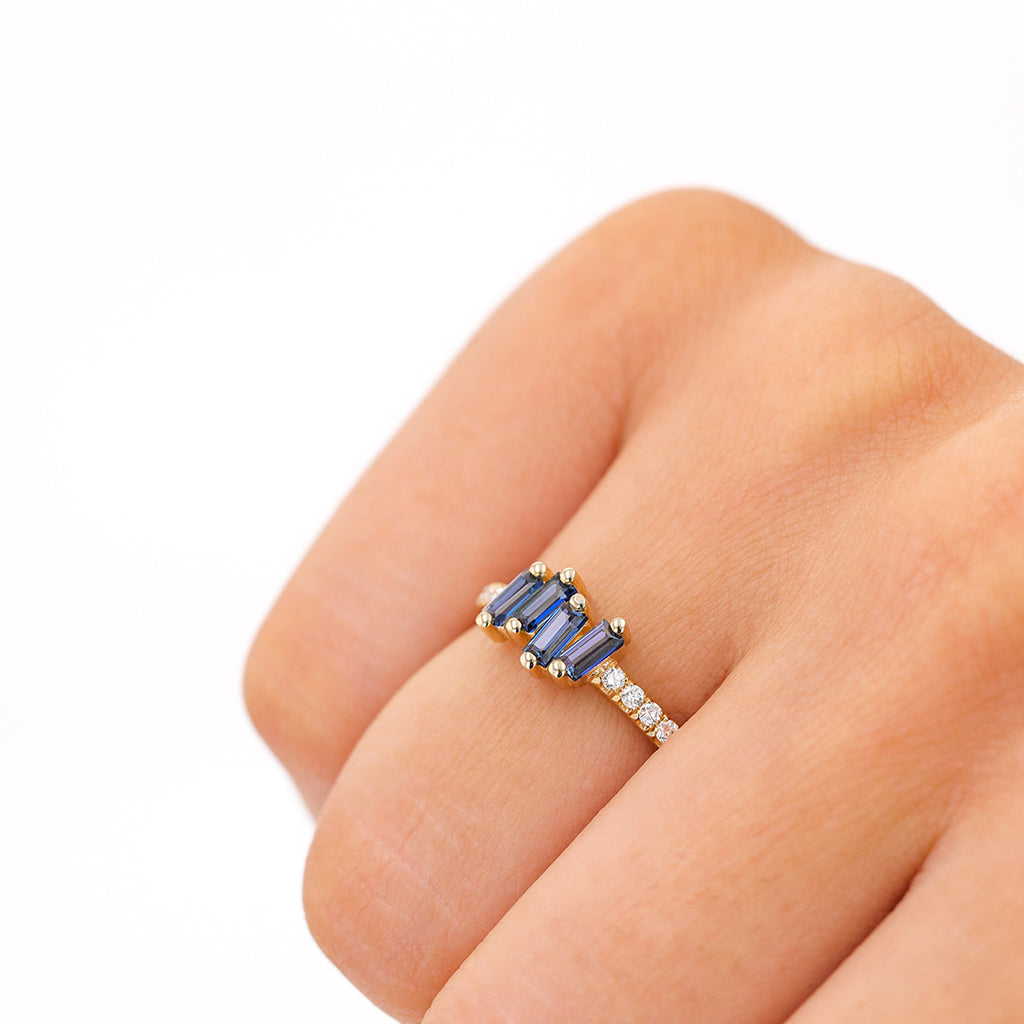 GRACIE ENGLISH BLUE TOPAZ BAND
