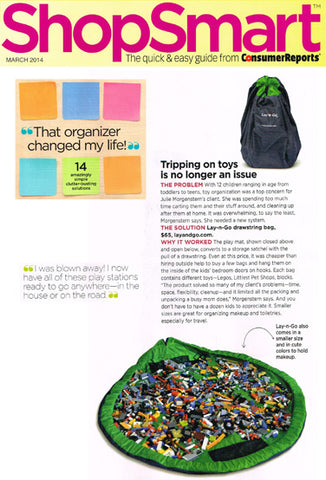 ConsumerReports ShopSmart Feature on the Lay-n-Go COSMO