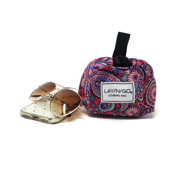 "Lay-n-Go COSMO Mini (13"") : Pink Paisley"
