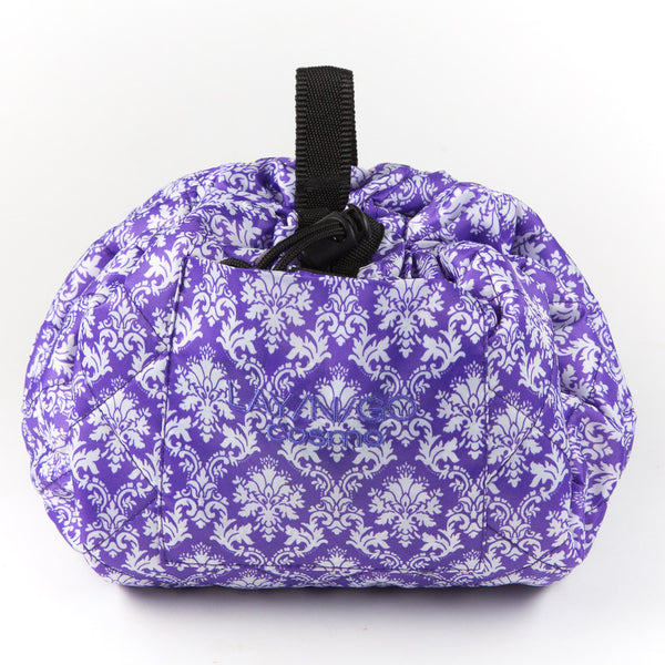 "Lay-n-Go COSMO (20"") Damask Cosmetic Bag Shown Closed"