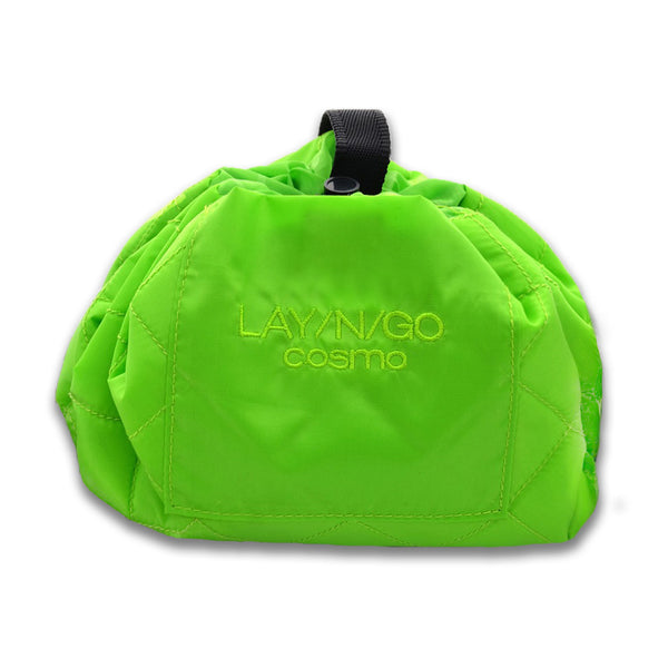 "Lay-n-Go COSMO (20"") Green Cosmetic Bag Shown Closed"