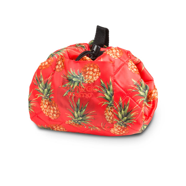 "Lay-n-Go COSMO Plus (21"") Pineapple Cosmetic Bag Shown Completely Closed"