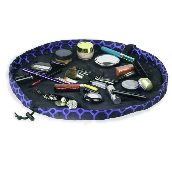 "Lay-n-Go COSMO (20"") Sapphire Cosmetic Bag Shown Open"