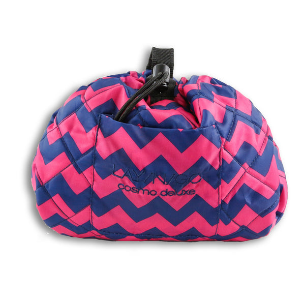 "Lay-n-Go COSMO Deluxe (22"") Chevron Cosmetic Bag Shown Closed"