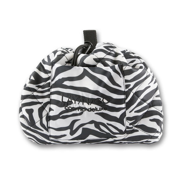 "Lay-n-Go COSMO Deluxe (22"") Zebra Cosmetic Bag Shown Closed"