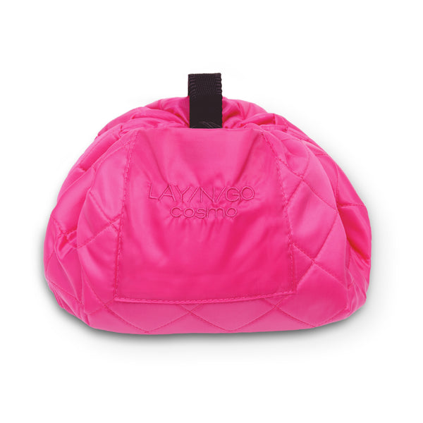 "Lay-n-Go COSMO (20"") Pink Cosmetic Bag Shown Closed"