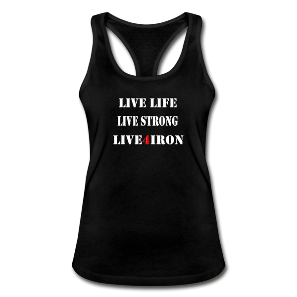 Women's Racerback Tank Top - black