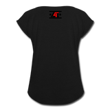 """LIVE4IRON"" Women's Roll Cuff T-Shirt - black"