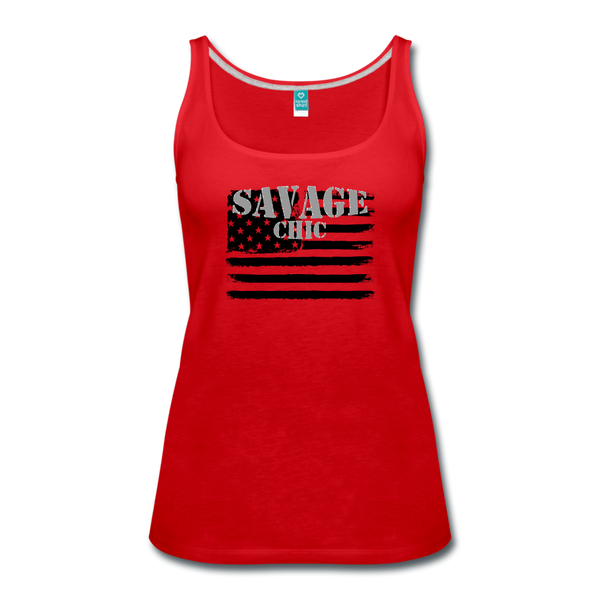 """LIVE4IRON"" Women's Premium Tank Top - red"