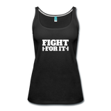 """LIVE4IRON"" Women's Premium Tank Top - black"