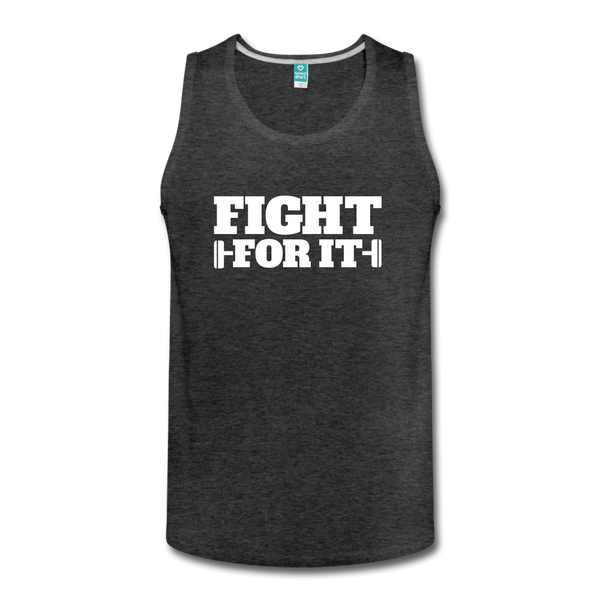 """LIVE4IRON"" Men's Premium Tank - charcoal gray"
