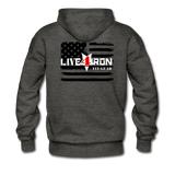 LIVE4IRON Men's Premium Hoodie - charcoal gray