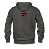 """LIVE4IRON""Men's Premium Hoodie - charcoal gray"