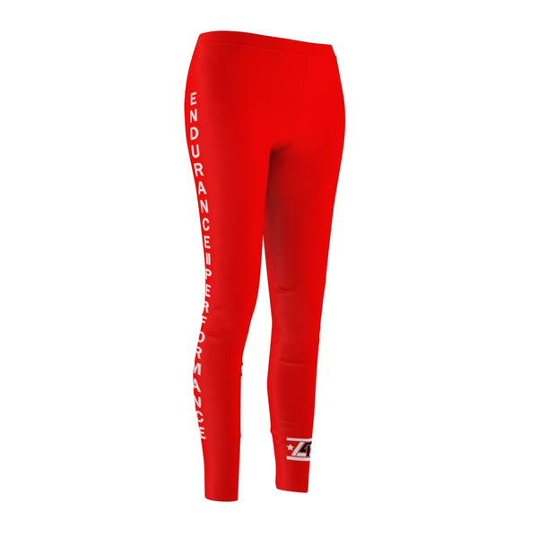 Fire Red LIVE4IRON FIT GEAR Women's Cut & Sew Casual Leggings