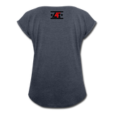 """LIVE4IRON"" Women's Roll Cuff T-Shirt - navy heather"