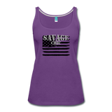 """LIVE4IRON"" Women's Premium Tank Top - purple"
