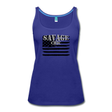 """LIVE4IRON"" Women's Premium Tank Top - royal blue"