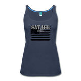 """LIVE4IRON"" Women's Premium Tank Top - navy"