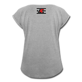"""LIVE4IRON"" Women's Roll Cuff T-Shirt - heather gray"