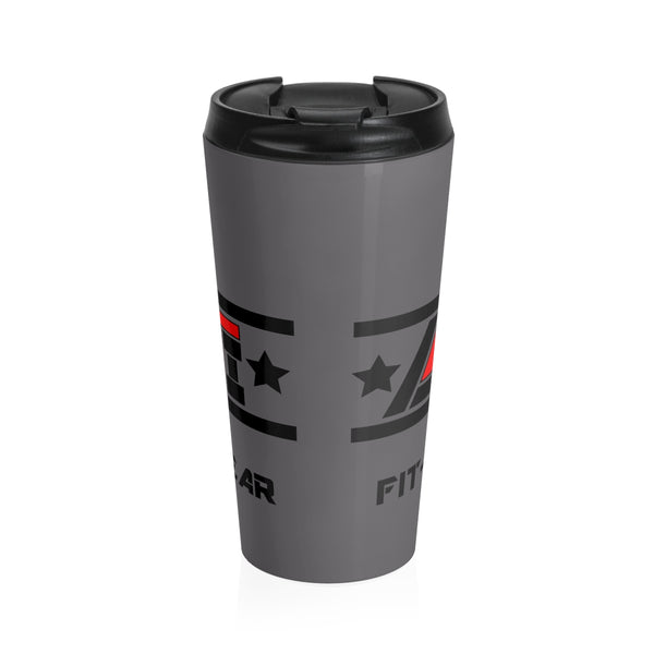 LIVE4IRON Apparel Logo - Stainless Steel Travel Mug