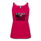 """LIVE4IRON"" Women's Premium Tank Top - dark pink"
