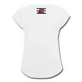 """LIVE4IRON"" Women's Roll Cuff T-Shirt - white"