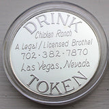 Silver Drink Token in Hard Plastic Case
