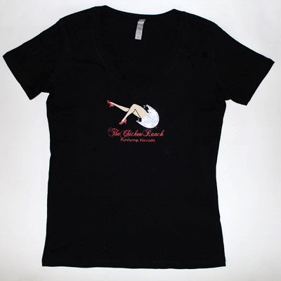 Ladies Jeweled Logo V-Neck T-Shirt