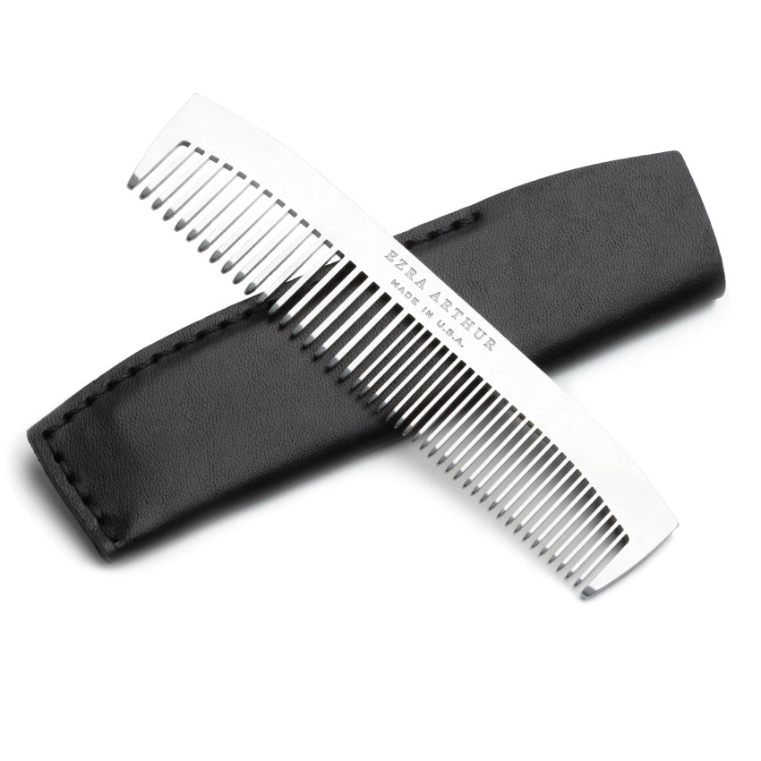 Ezra Arthur | Ezra Arthur No. 1827 Pocket Comb - Jet Black | Men's Accessories - Combs | Phoenix General Store