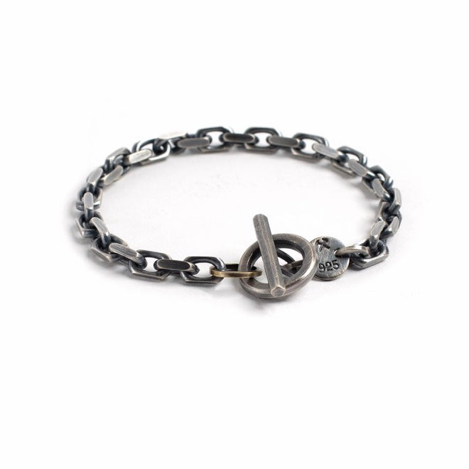 Studebaker Metals Toggle Bracelet - Sterling Silver Work Patina