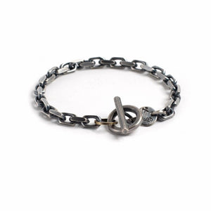 Studebaker Metals | Studebaker Metals Toggle Bracelet - Sterling Silver Work Patina | Men's Accessories - Bracelets | Phoenix General Store