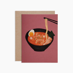 Poketo Greeting Card - I'm Sorry Ramen