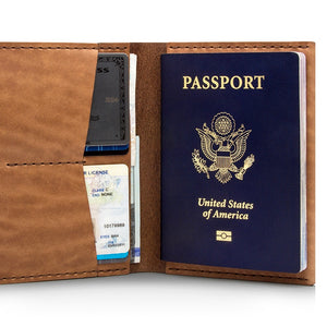 Ezra Arthur | Ezra Arthur No. 5 Passport Wallet - Whiskey | Men's Accessories - Wallets | Phoenix General Store