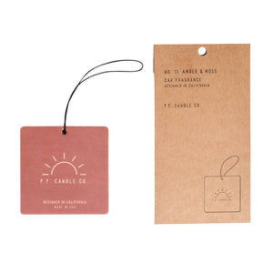 PF Candle Co Car Freshener - Amber & Moss
