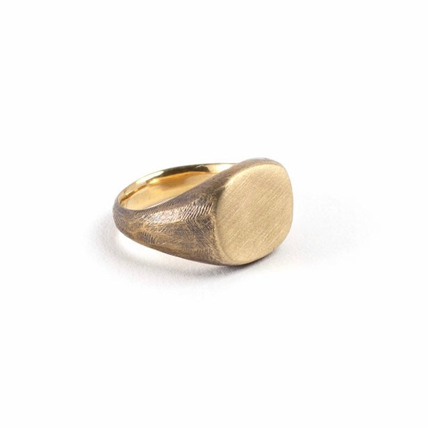 Studebaker Metals | Studebaker Metals Signet Ring - Brass Work Patina | Men's Accessories - Rings | Phoenix General Store