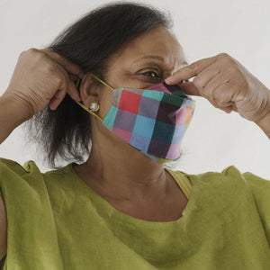 Baggu Fabric Ear Loop Mask Set - Madras Mix