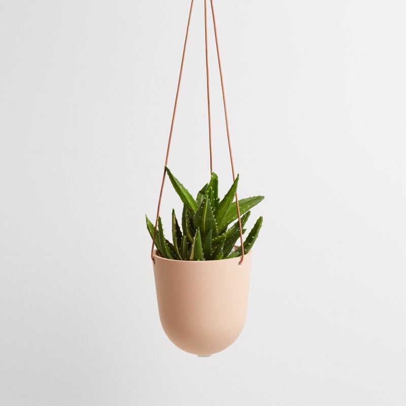Capra Designs Block Color Hanging Planter - Salt