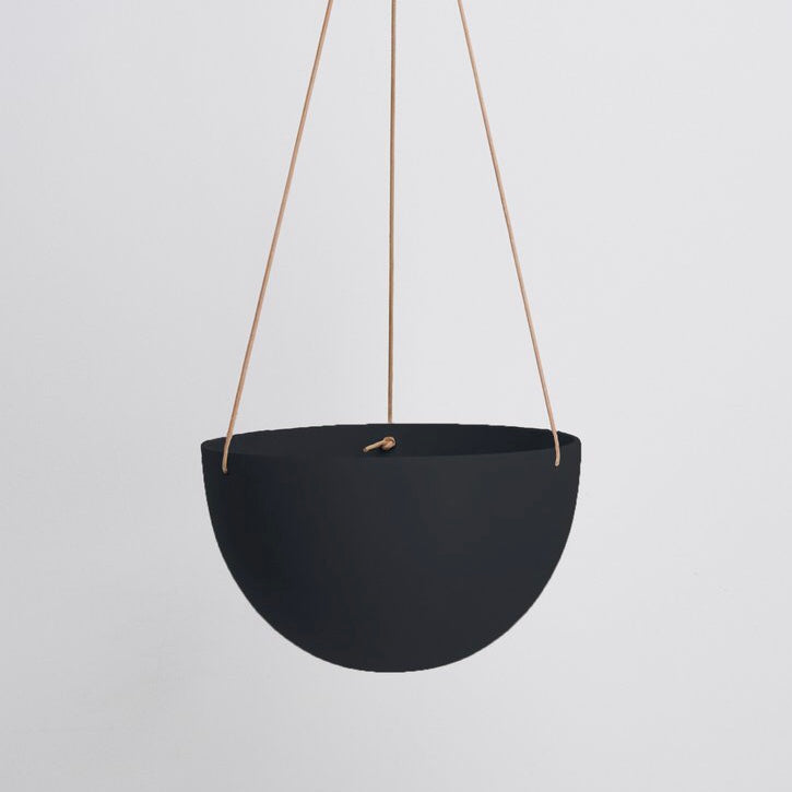 Capra Designs Block Color Dome Hanging Planter - Black